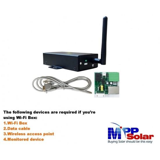WI-FI box -  tablou monitorizare online invertoare PIP - MppSolar, Effekta, Axpert