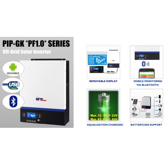 Invertor hibrid MPPSolar 3024GK, 3 kW / 24V,  MPPT 80A, PV input 450V