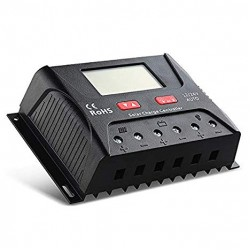 Regulator solar 30A, tip PWM cu ecran LCD, 12-24V