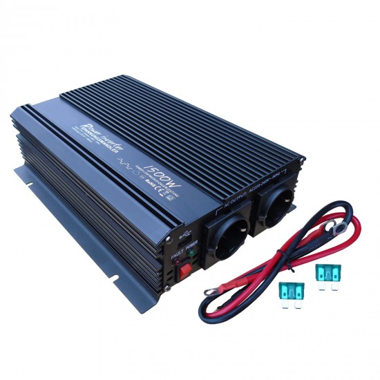 Invertor sinus modificat 24V - 1500W / 3000W