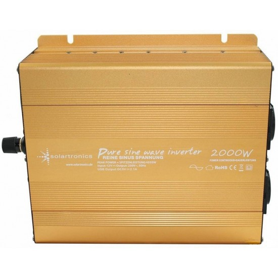 Invertor sinus pur, 12V - 2000W / 4000W