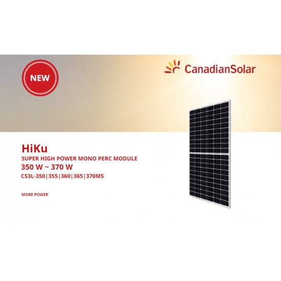Panou solar fotovoltaic CanadianSolar HiKu 370Wp