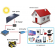 Kit fotovoltaic complet 1000W: panouri, baterii si invertor 3000W