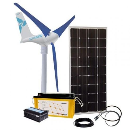 Sistem fotovoltaic hibrid fotovoltaic + eolian, 24V / 1600W