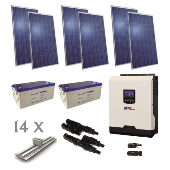 Sistem Fotovoltaic Marime  Medie (1500W, 500Ah, 24V)